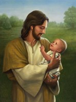 Jesus And Baby Fine Art Print
