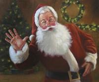 Santa Greeting Fine Art Print