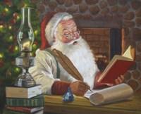 Santa Making A List Fine Art Print