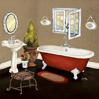 Red Master Bath I Fine Art Print