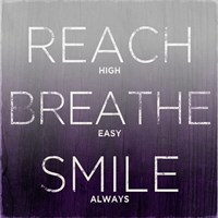 Reach, Breathe, Smile (purple) Fine Art Print