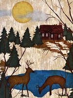 Cabin in the Woods I Fine Art Print