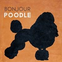 Bon Jour Poodle Fine Art Print