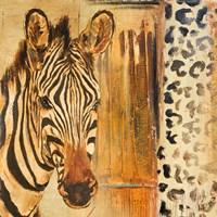 New Safari on Gold Square I Fine Art Print