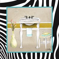 Zebra Bath I Fine Art Print