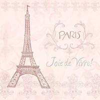 Elegant Paris Square III Fine Art Print