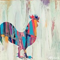 Bright Rhizome Rooster Fine Art Print