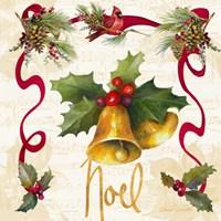 Christmas Poinsettia Ribbon III Fine Art Print