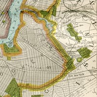 Vintage New York Map II Fine Art Print