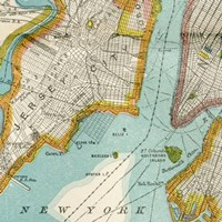 Vintage New York Map IV Fine Art Print
