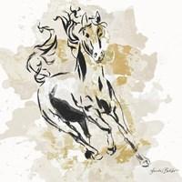 Free Spirit in Gold II Fine Art Print
