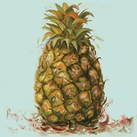 Contempo Pineapple Square II Fine Art Print