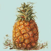 Contempo Pineapple Square I Fine Art Print
