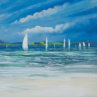 Sail Away Beach II Fine Art Print