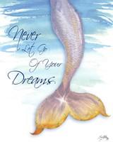 Mermaid Tail II (never let go of dreams) Fine Art Print
