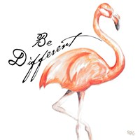 Be Different Flamingo I Fine Art Print