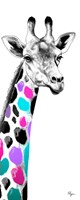 Multicolored Giraffe I Fine Art Print