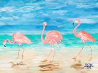 Flamingo Beach II Fine Art Print