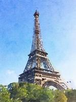 Watercolor Streets of Paris II Fine Art Print