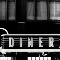 B&W Diner Fine Art Print