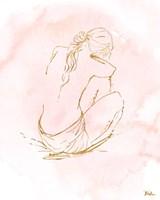 Nude on Pink I Fine Art Print