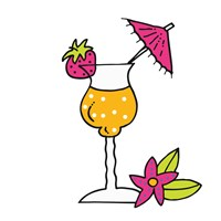 Tropical Drinks III Fine Art Print