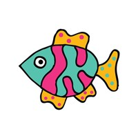 Whimsical Sea Creatures II Fine Art Print
