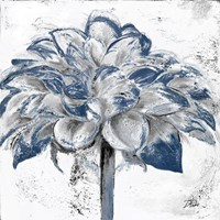 Navy Blue Dahlia Fine Art Print