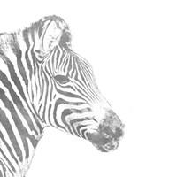Elegant Silver Safari I (silver foil) Fine Art Print