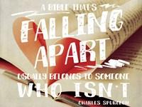 Falling Apart Bible Fine Art Print