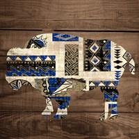 Bison on Wood Fine Art Print