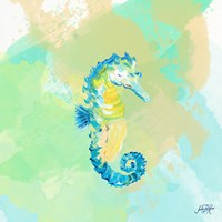 Watercolor Sea Creatures III Fine Art Print