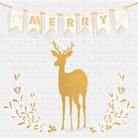 Gold Reindeer II Fine Art Print