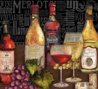 Wine Still Life on Black Fine Art Print