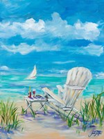 Beach Lounging Fine Art Print