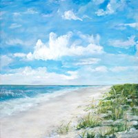 Day At The Beach Square Fine Art Print
