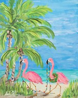 Flamingo Christmas II Fine Art Print