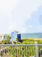 Watercolor Coastal Cottage Fine Art Print