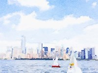 Watercolor NYC Skyline II Fine Art Print