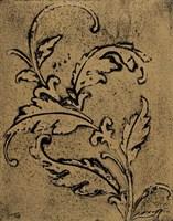 Leaf Scroll II Fine Art Print