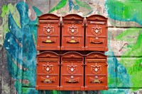 City Mail Boxes Fine Art Print