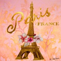 Gold Paris Eiffel Fine Art Print