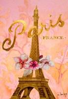 Gold Paris Eiffel Panel Fine Art Print