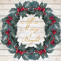 All Is Merry & Bright Fine Art Print