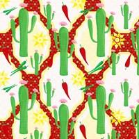 Chili Fiesta Pattern II Framed Print