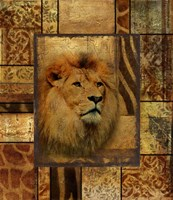Decorative Safari II (Lion) Fine Art Print
