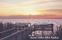 Dive Into The Lake Fine Art Print