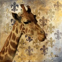 Golden Safari III (Giraffe) Fine Art Print