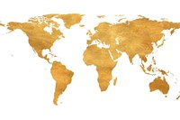 Gold World Map Fine Art Print