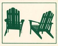 Green Deck Chairs Fine Art Print
